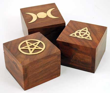 Brass Inlaid Box (various designs)