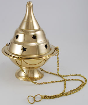 Medium Hanging Brass Censer