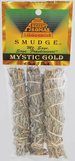 Mystic Gold smudge 3pk 4""