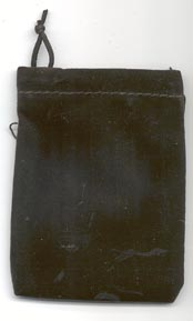 Bag Velveteen 3 x 4 Black