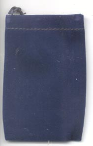 Bag Velveteen 3 x 4 Blue