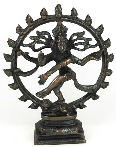 Antiqued Bronze Shiva Dancing 6""